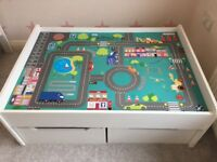 Children's wooden play table
