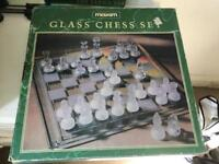 Glass chess set great condition