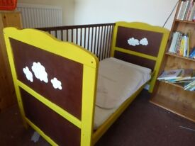 Baby to toddler convertible COT BED - customised