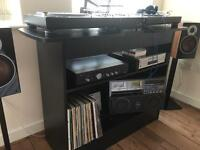 Dj Desk Black wood veneer finish