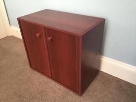 Wooden Floor Cupboard with 1 Fixed Shelf H21in/53cm W24in/61cm D13in/33cm