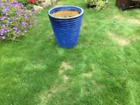 Large blue planter for sale