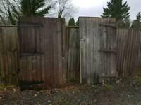 Reclaimed garage doors