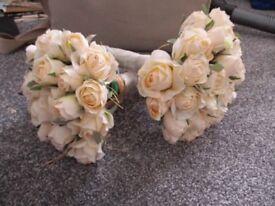 2 wedding/bridesmaid bouquets
