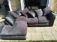 4 seater corner sofa with cushions