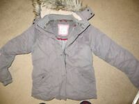 Fatface ladies grey hooded jacket - size 14