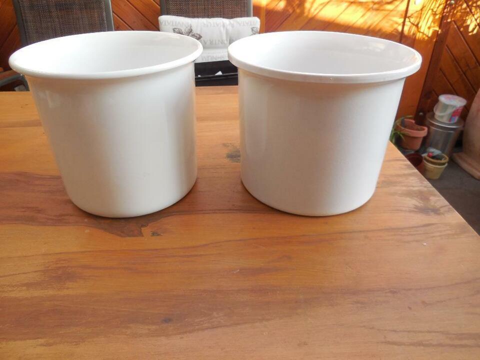 weiße Keramik Übertöpfe in Delmenhorst