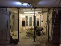 Plasterer plastering stud walls coving domestic commercial full re-skims fully insured