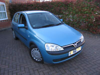 2002 (52) Vauxhall Corsa 1.2, 5-Door, MOT-Jan2019 (no advisories), Clio, 206, Polo