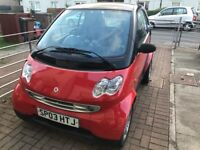 Smart car - economical cheap to run and tax. Low mileage