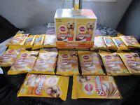 box of schmackos 31 packs new,rhodeos 4 packs