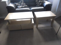 TELEVISION STAND AND MATCHING COFFEE TABLE BRAND NEW