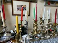 Singles and Pairs candle and candelabra £10-20
