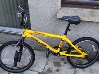 Mongoose yellow bmx bike Good condition bargain