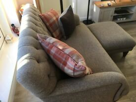 Harris Tweed sofas and foot stools **NOW SOLD**