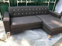 NEW Charcoal Grey Chaise Corner Sofa Modern DELIVERY AVAILABLE