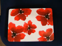 6 Poppy Placemats