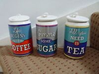 Tea, Coffee and Sugar Canisters - Ben de Lisi