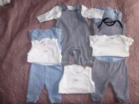 Next boys blue/white bundle up to 1 month 10 items
