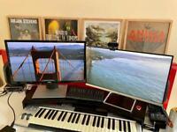 "Two 24"" PC monitors (1080p Full HD)"