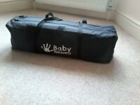 Travel cot. Baby Weavers travel cot/ playpen with bassinet and insect net.