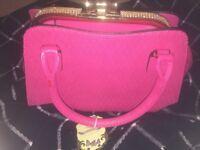 Pink boutique bag.