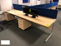 Beech Effect Desk, 1600mm x 800mm in Great Condition