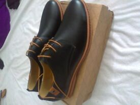 pair brand new in the box mens casual dress light leather oxford shoes sizes 11.5 plus 11