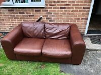 Italian Leather Large Two Seater