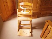 BabyDan Danchair Natural Highchair/High Chair (Similar To Stokke Tripp Trapp)
