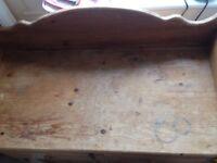 Solid wood baby changing unit 103cm x91cmx 45cm