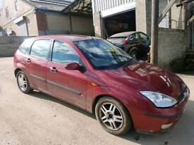 2003 FORD FOCUS 1.8 GHIA TDCI 5 DOOR HATCHBACK RED