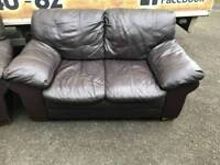 2 seater sofa in a thick grade of leather Hyde