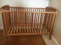 Lovely solid wood cot hardly used