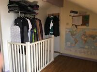 Large attractive furnished attic room for rent in shared period house