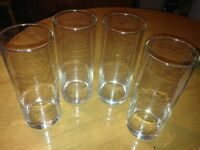 4 Tall Drinking Glasses £2 only.