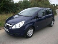 57 REG VAUXHALL CORSA 1.2 FIVE DOOR MOT SEPTEMBER 2017