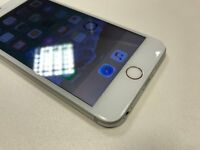 iPhone 6 Plus 128GB -Network Unlocked - Silver - Faulty Touch ID - 6 Month Warranty With Receipt
