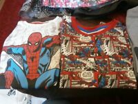 t shirts set of 4 age 4-5 spiderman ben ten