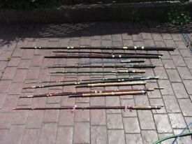 8 x fishing rods for fly fishing,river,course,spinning