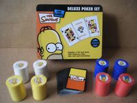 The Simpsons (Deluxe Poker Set). With deck of cards and 200 chips (75% sealed).