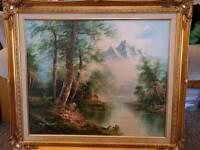 Roger Brown landscape oil painting