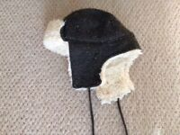 Boys 3-6 year Trapper hat, fur lined, great condition from a pet and smoke free home