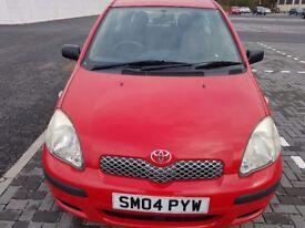 Toyota yaris 3 door,low Mileage