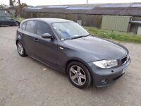 2004 BMW 1 SERIES 120i SPORT 5 DOOR HATCHBACK GREY 10 MONTHS M.O.T