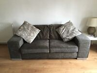 Two Reid sofas for sale. Charcoal grey fabric.