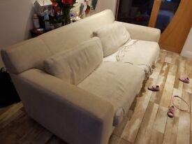 Marks and Spencers Cream Cloth Sofa