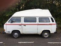 Volkswagen T25 1984 camper van. Reconditioned 1.9 Diesel engine and MOT until 30th June 2017