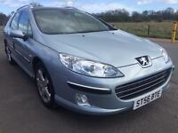 SALE! Bargain Peugeot 407 diesel estate, long MOT, recent timing belt, low mileage ready to go