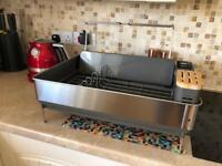 Simplehuman kitchen dish drainer / glass holder